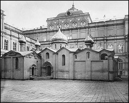 Собор  Спаса на Бору в Москве. 1330. Уничтожен в 1933г.