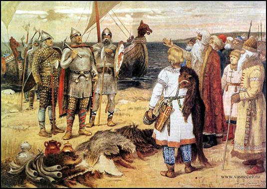 В.М.Васнецов.  «Прибытие Рюрика в Ладогу». 1909г.
