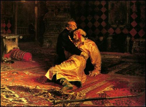 И.Репин. Иван Грозный убивает своего сына Ивана.