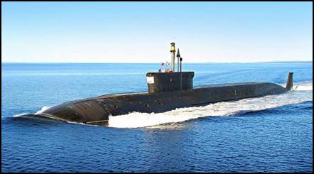 Подводная лодка «Юрий Долгорукий». Спущена на воду в 2007г.