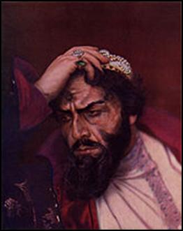 Фёдор Шаляпин в роли Бориса Годунова.