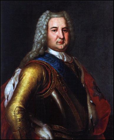 Неизвестный художник XVIII века Портрет герцога Курляндского Э.И.Бирона. 1737-40 гг. Рундальский дворец, Латвия.