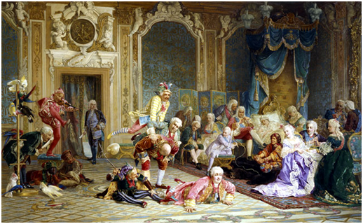 Валерий Якоби . Шуты при дворе императрицы Анны Иоанновны. 1872 г.