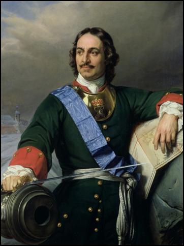 Портрет Петра I. Поль Депарош (1838)