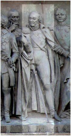 М. И. Кутузов на памятнике « 1000-летие России»  в Новгороде