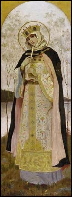 Княгиня Ольга. Нестеров, 1892г.