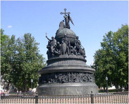 Памятник « 1000-летие России». Новгород. Автор: М.Микешин. 1862