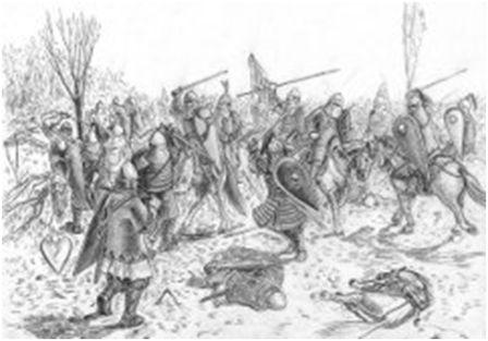 Битва на Нежатине, где погиб Изяслав в 1078