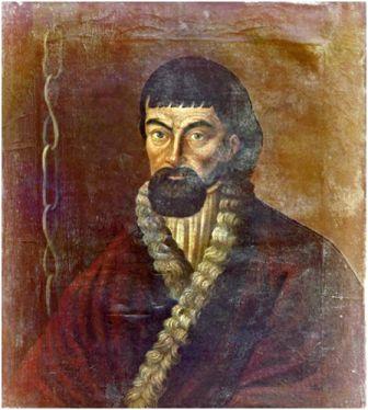 Портрет Пугачёва, писанный с натуры (надпись на портрете: «Подлинное изображение бунтовщика и обманщика Емельки Пугачёва»).