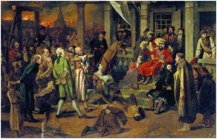 Перов. В. «Суд Пугачёва». 1879. Русский музей, Санкт-Петербург