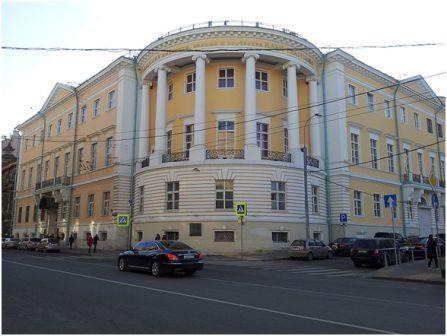 Дом Юшкова . Сейчас Российская Академия живописи, ваяния и зодчества на ул. Мясницкая, 21 в Москве