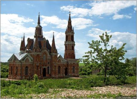 Церковь, село Знаменское, Липецкая область (вероятное авторство Баженова В.).