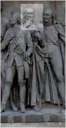 Барклай де Толли. Памятник «Тысячелетие России». Новгород, 1862, скульптор Микешин М.О.
