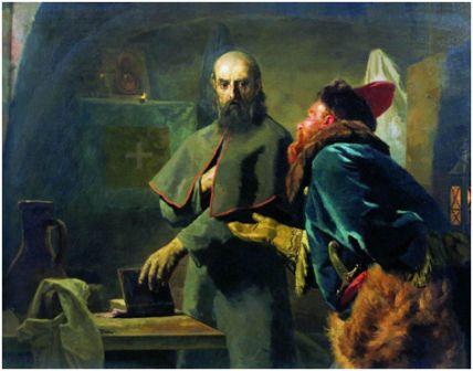 «Митрополит Филипп и Малюта Скуратов» (Николай Неврев, 1898 год)