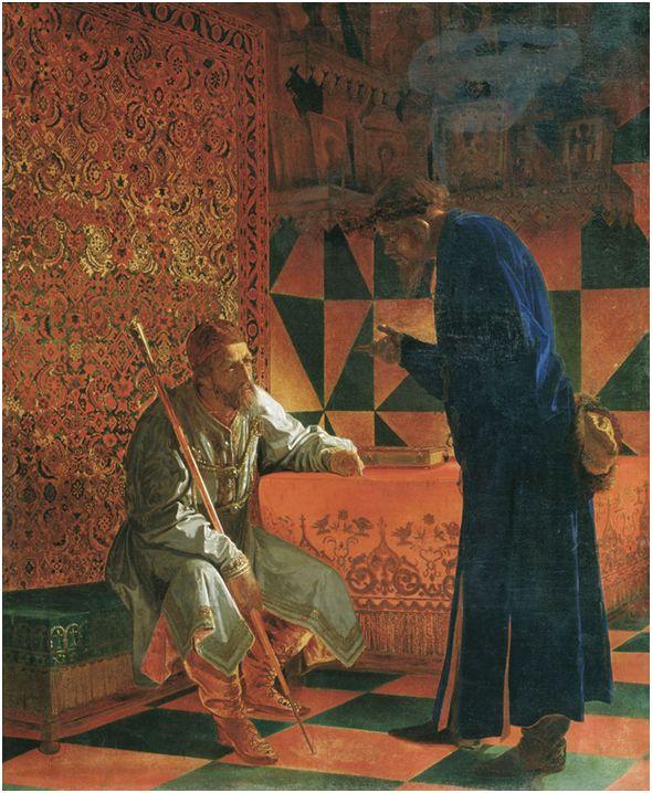 Иван Грозный и Малюта Скуратов .Картина художника Седова Г. С., 1871