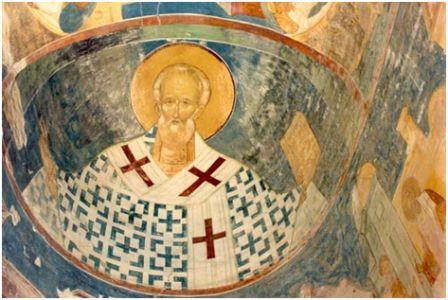 Николай Чудотворец..Собор Рождества Богородицы (1495-1496)). Фрески Дионисия.