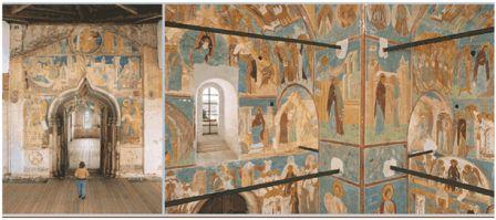 Фрески Дионисия в Успенском соборе.