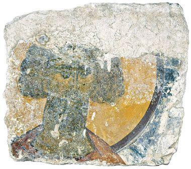 Голова неизвестного святого. Фреска в Соборе Рождества Богородицы в Пафнутьевом Боровском монастыре(1467-1477)