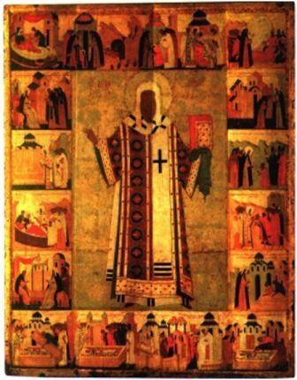 Алексий,  митрополит Московский с житием, начало 16 века.