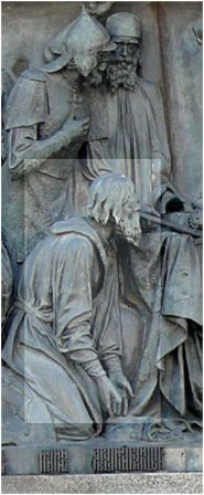 Кузьма Минин на памятнике «1000 –летие  России», Великий Новгород, 1860, скульптор -Микешин М.О.