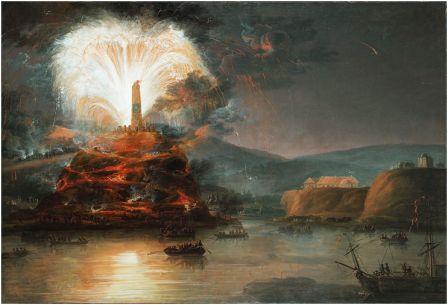 Фейерверк в честь Екатерины 2 в Крыму. Неизвестный художник, конец 18 века