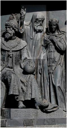 Сильвестр, изображение  на памятнике «1000-летие России» в Великом Новгороде, скульптор - Микешин М.О., 1862.