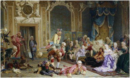 «Шуты в спальне Анны Иоанновны». Картина художника В.И.Якоби