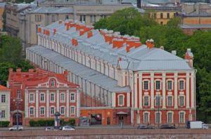 Здание Двенадцати коллегий  .Сегодня- одно из зданий С.-Петербургского университета.